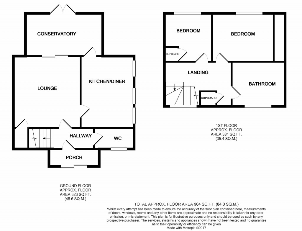 2 bedroom semi-detached house SSTC in Ipswich - floorplan 1