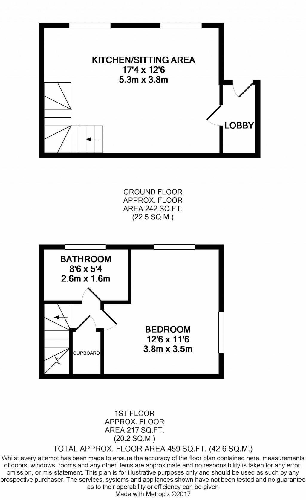 1 bedroom end terraced house SSTC in Ipswich - floorplan 1