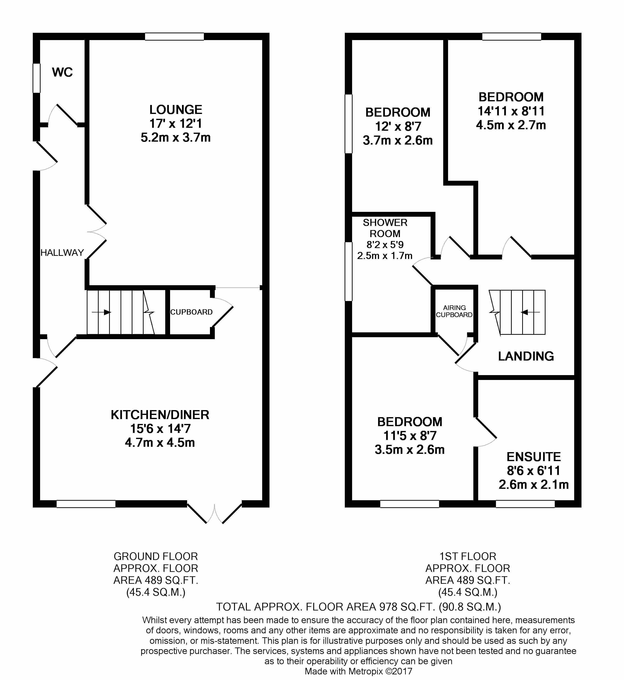 3 bedroom detached house Under Offer in Felixstowe - floorplan 1
