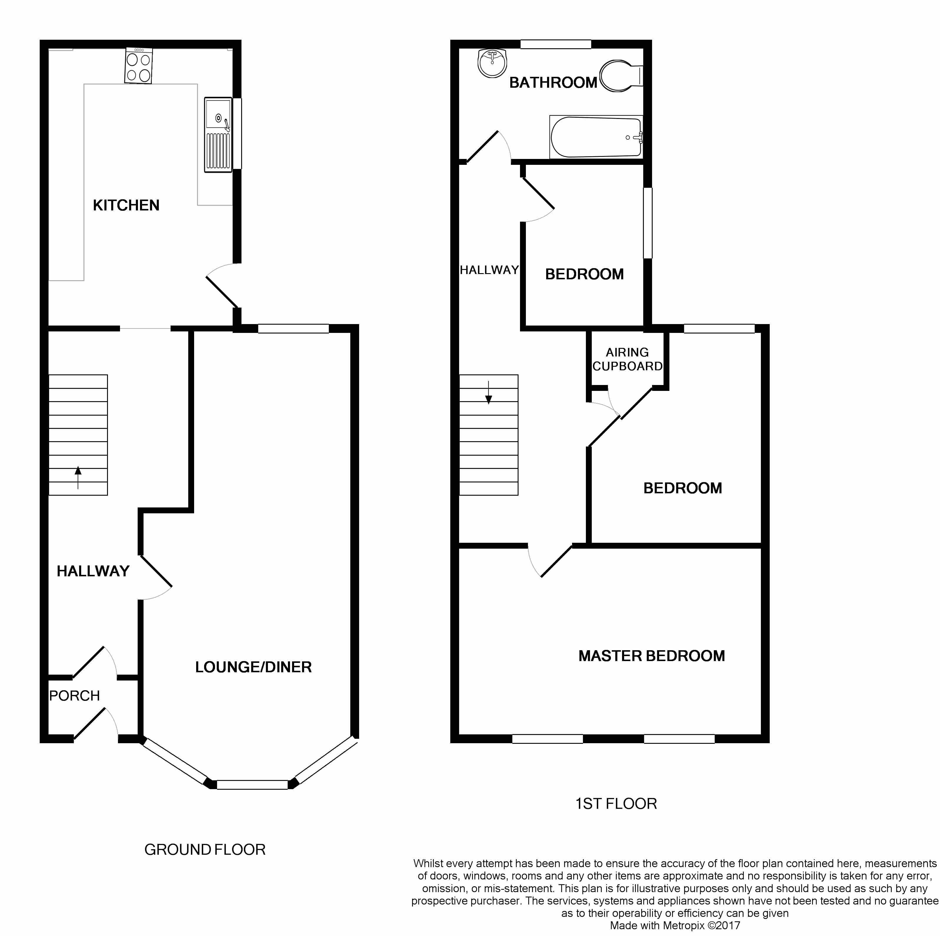 3 bedroom semi-detached house Under Offer in Ipswich - Floorplan 1