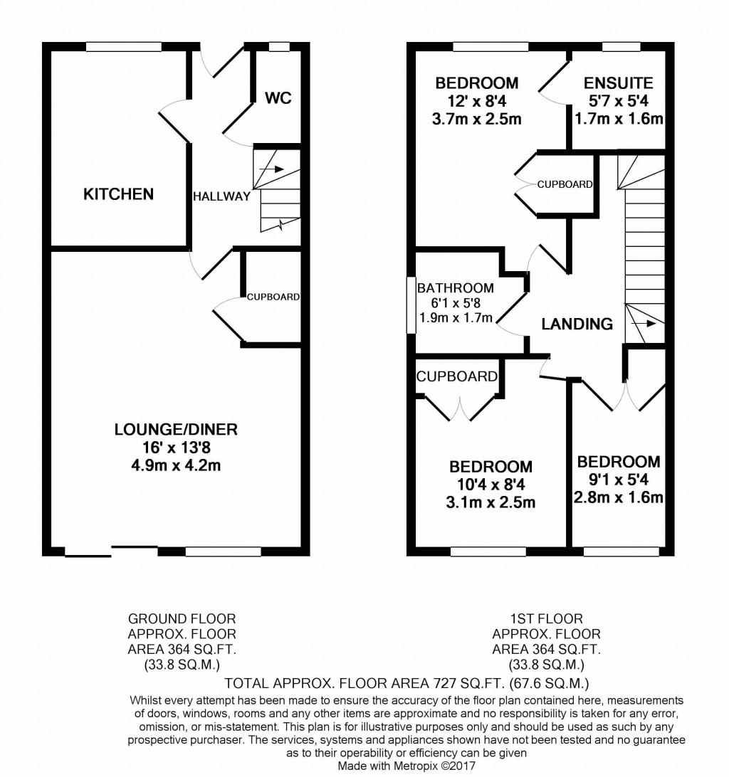 3 bedroom detached house SSTC in Ipswich - floorplan 1
