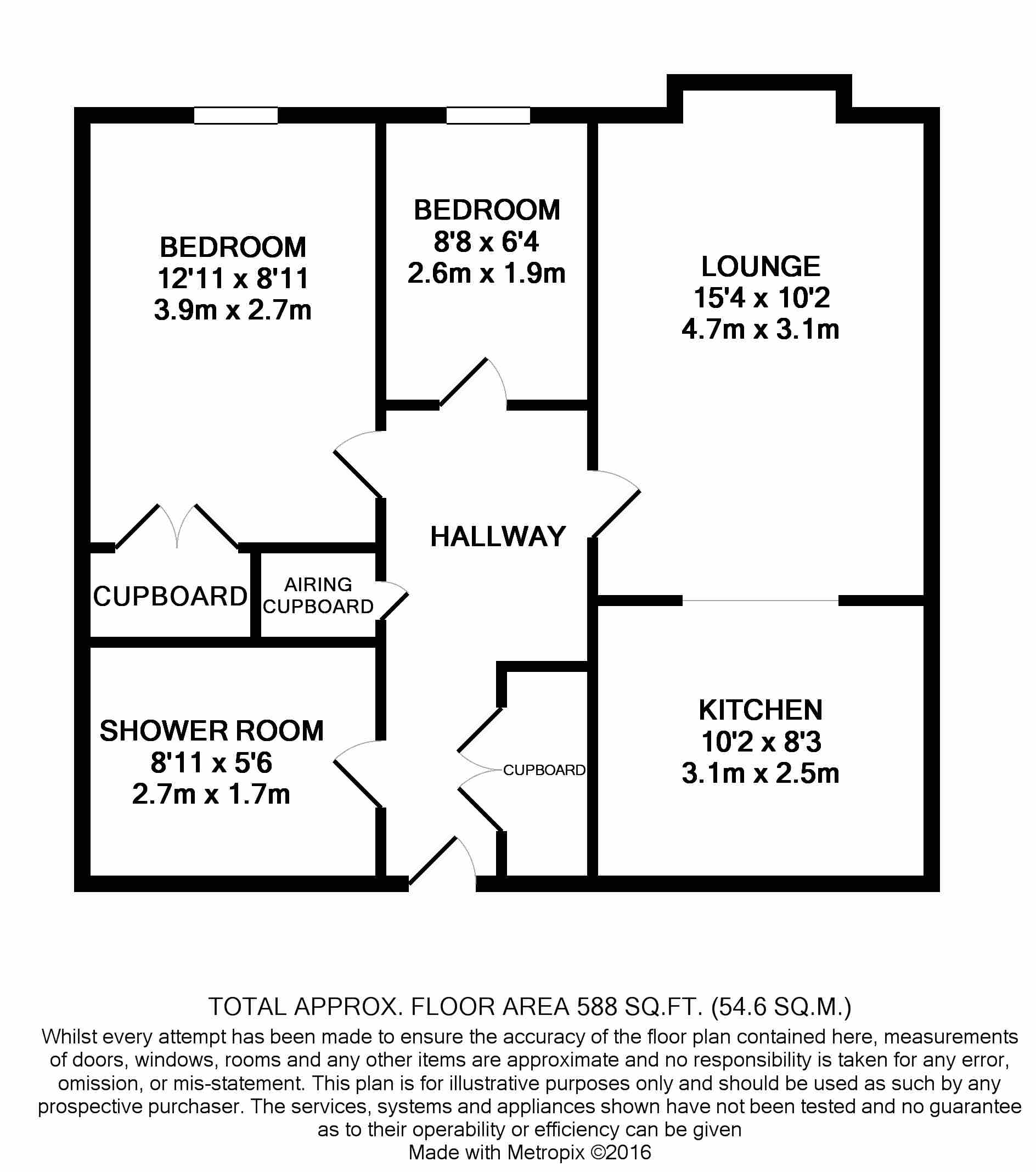 2 bedroom apartment flat/apartment For Sale in Ipswich - Floorplan 1