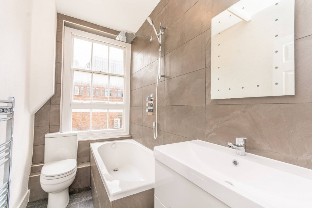 2 bedroom apartment flat/apartment To Let in London - Three Peice Bathroom with Shower Attachment and Hollywood Mirror