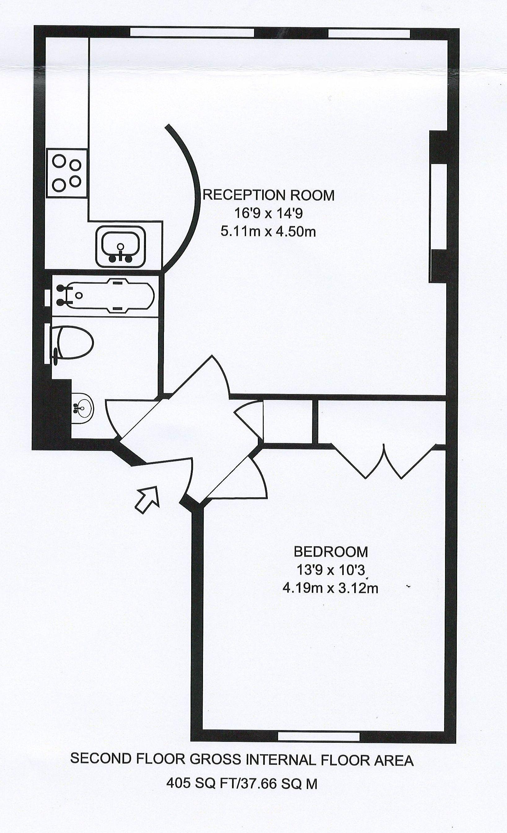 1 bedroom apartment flat/apartment To Let in London - FLOORPLAN