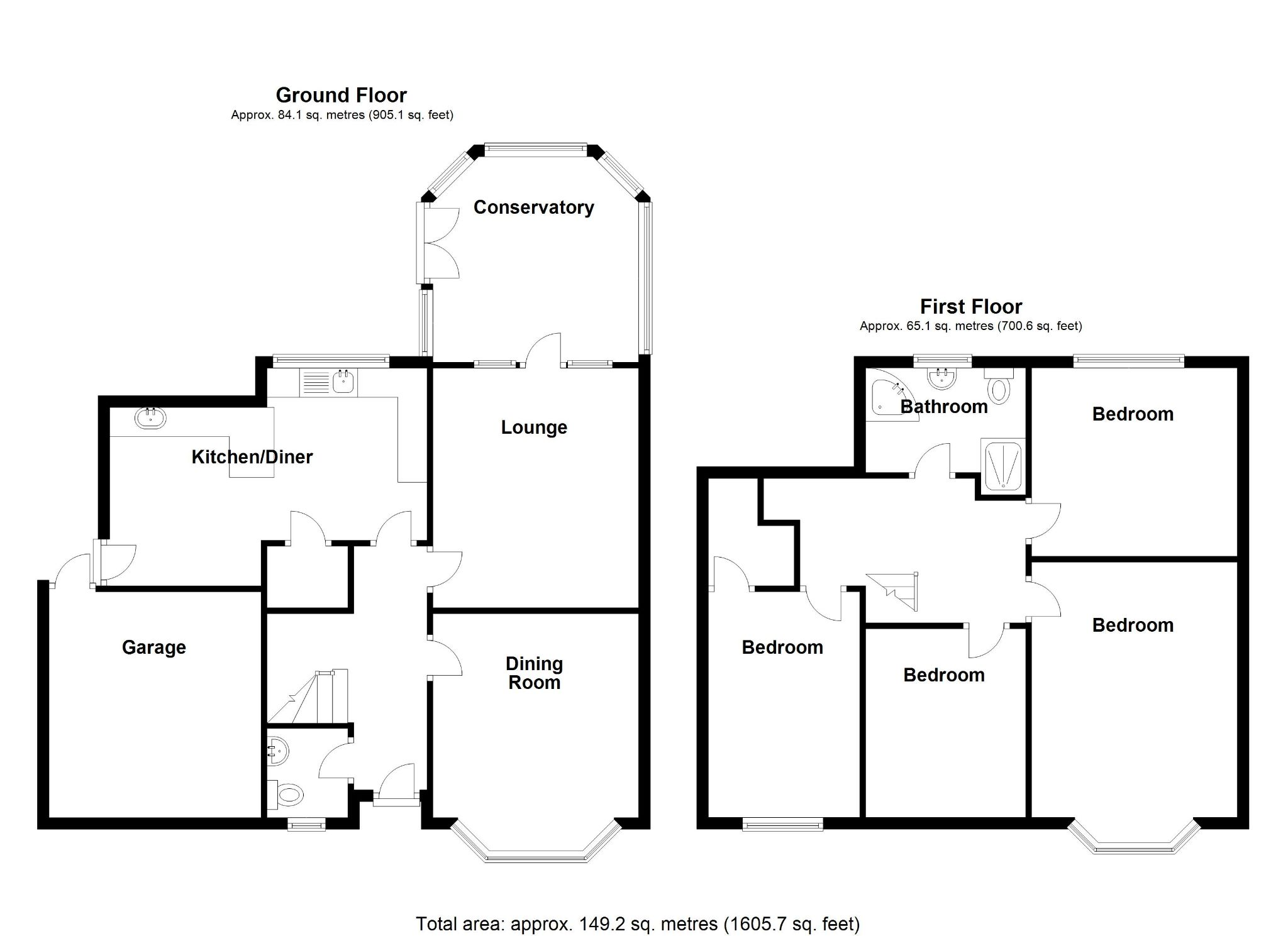 4 bedroom semi-detached house SSTC in Solihull - Floorplan 1.