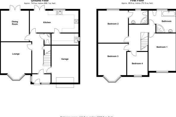 4 bedroom semi-detached house Let Agreed in Solihull - Floorplan 1.