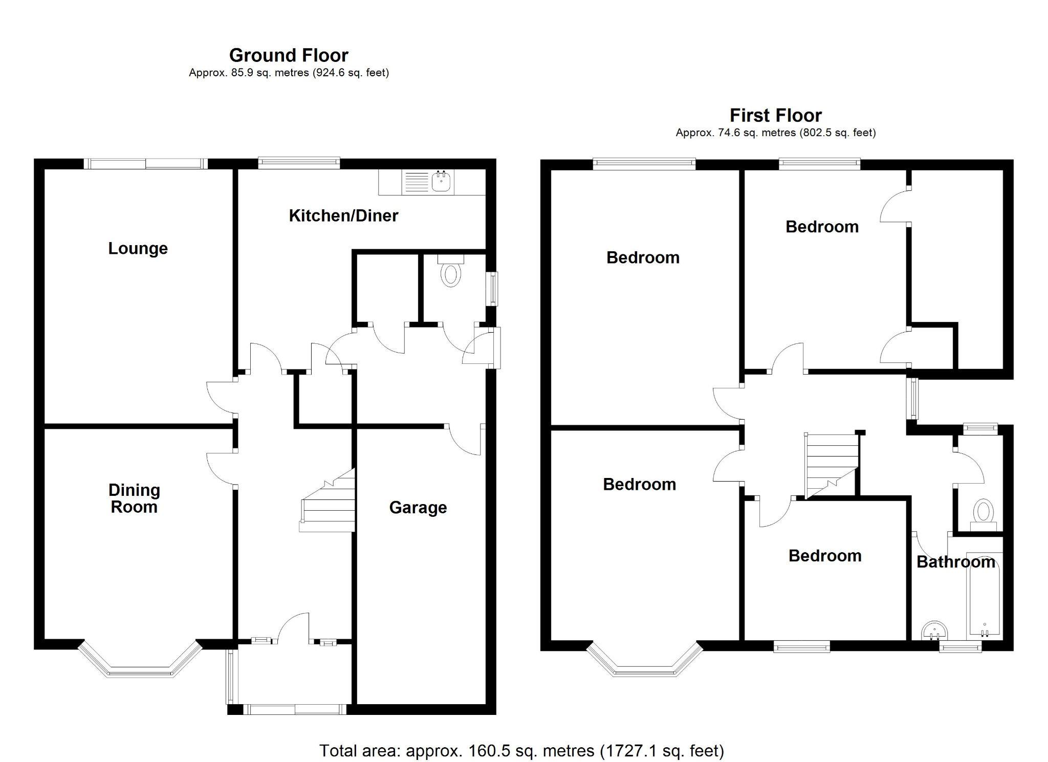 4 bedroom detached house SSTC in Solihull - Floorplan 1.