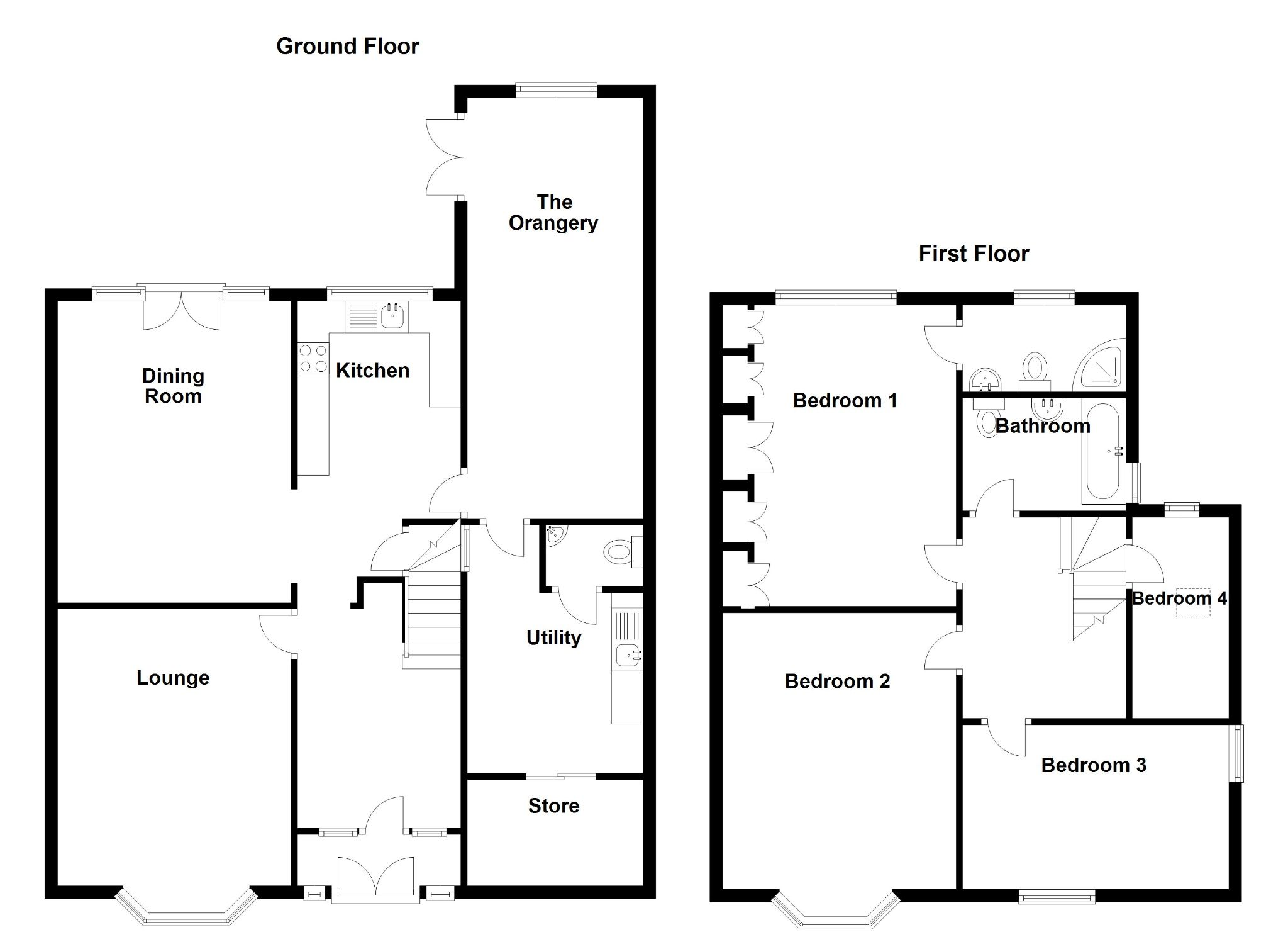 4 bedroom detached house For Sale in Solihull - Floorplan 1.