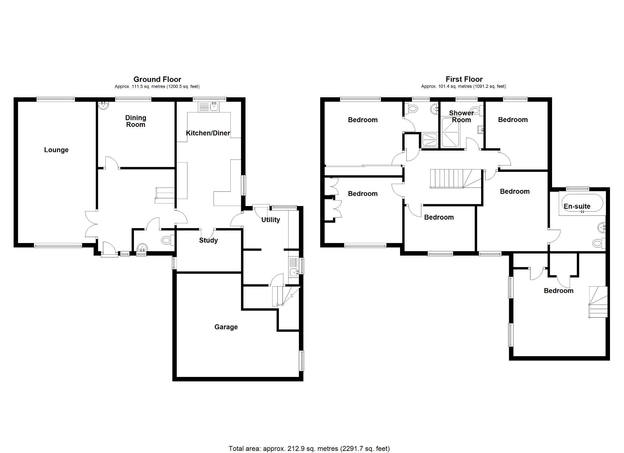 6 bedroom detached house SSTC in Solihull - Floorplan 1.