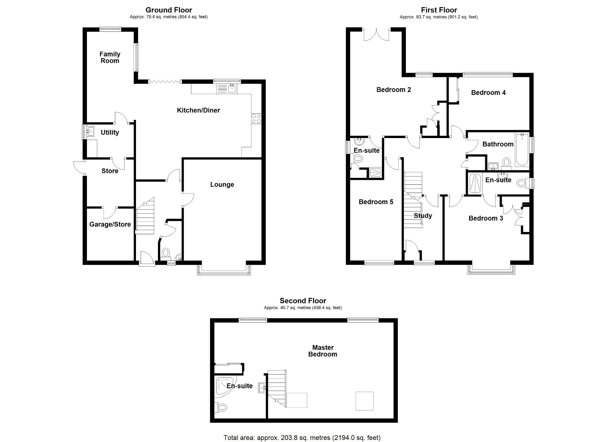 5 bedroom detached house SSTC in Solihull - Floorplan 1.