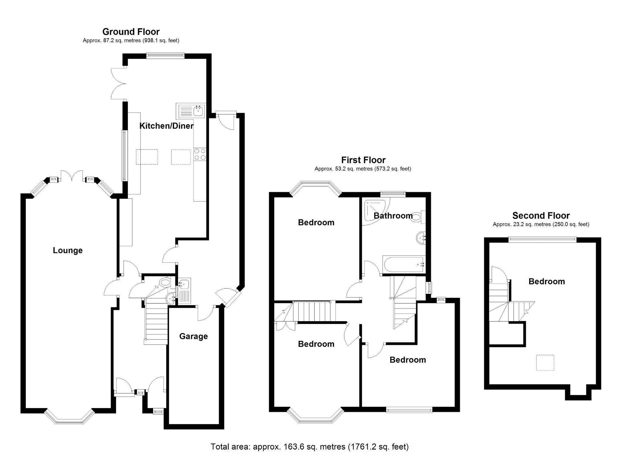 4 bedroom semi-detached house SSTC in Solihull - Floorplan 1.