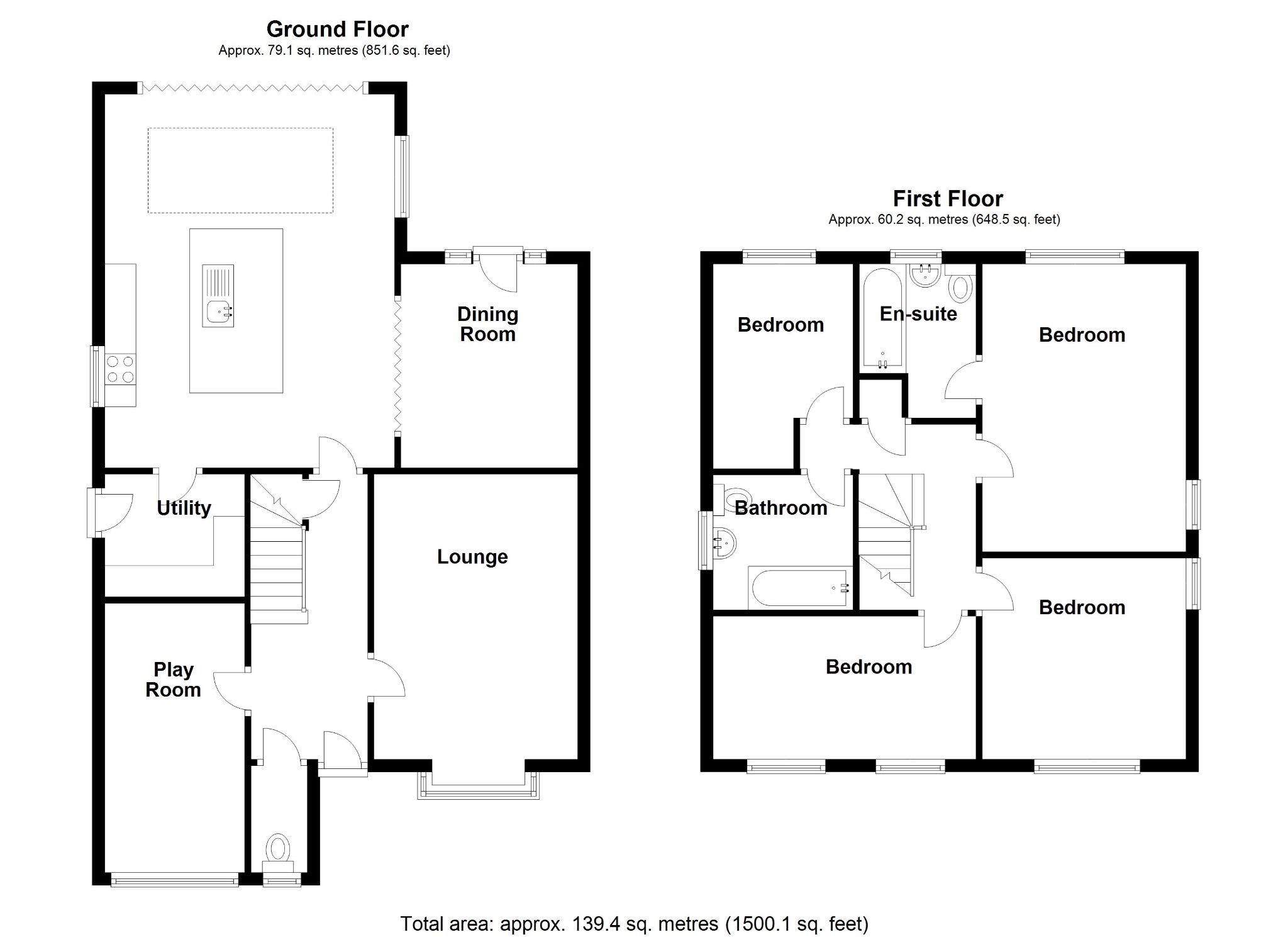 4 bedroom detached house For Sale in Solihull - Floorplan 1.
