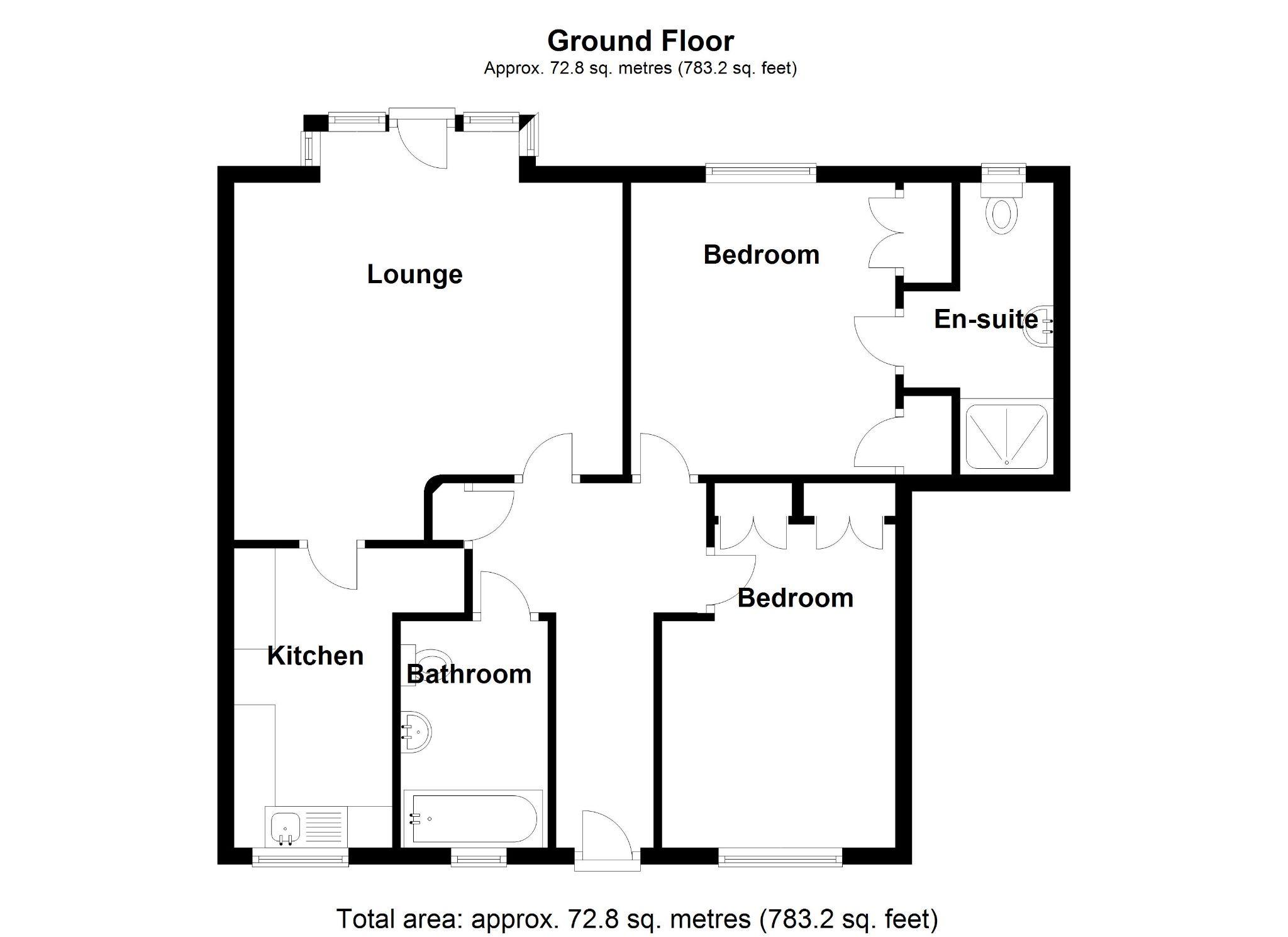2 bedroom apartment flat/apartment For Sale in Solihull - Floorplan 1.