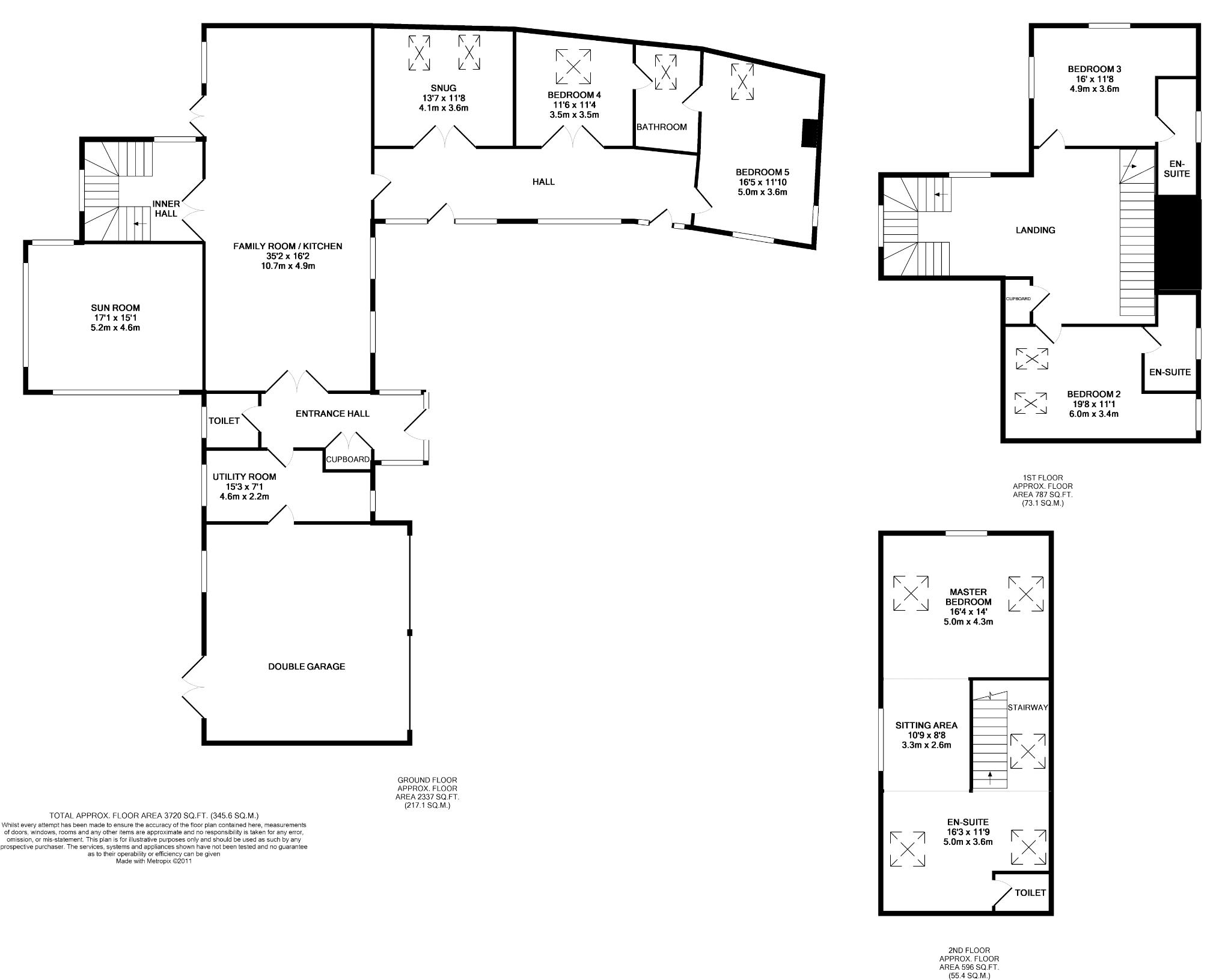 5 bedroom detached house For Sale in St Johns - Floorplan 1