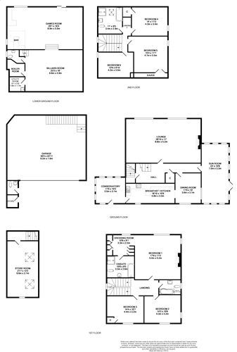 6 bedroom detached house For Sale in Port St Mary - Floorplan 1