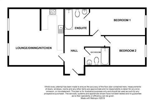 2 bedroom ground floor flat/apartment For Sale in Port St. Mary - Floorplan 1