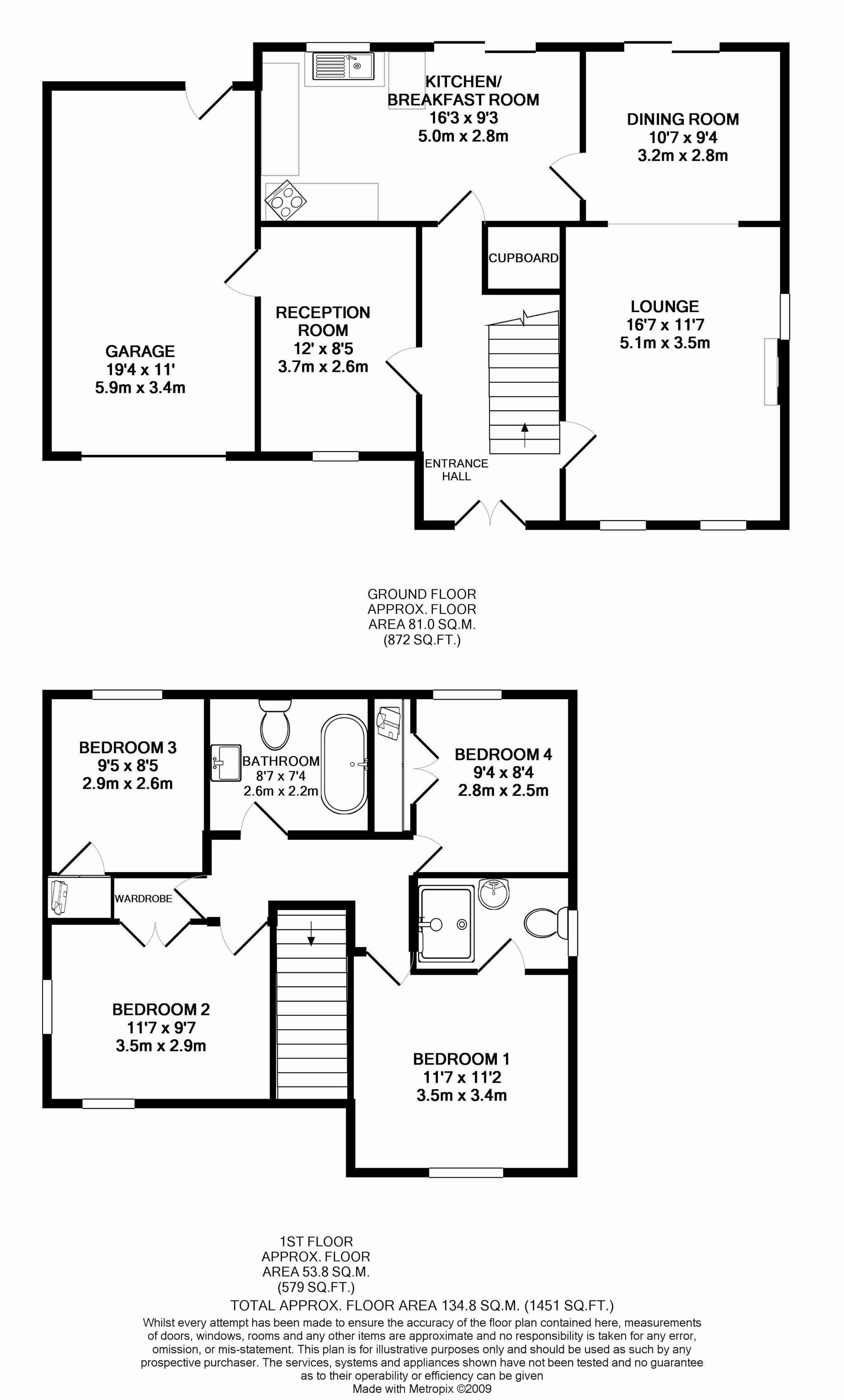 4 bedroom detached house For Sale in Kirk Michael - Floorplan 1