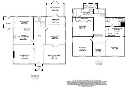 4 bedroom detached house For Sale in Port St Mary - Floorplan 1