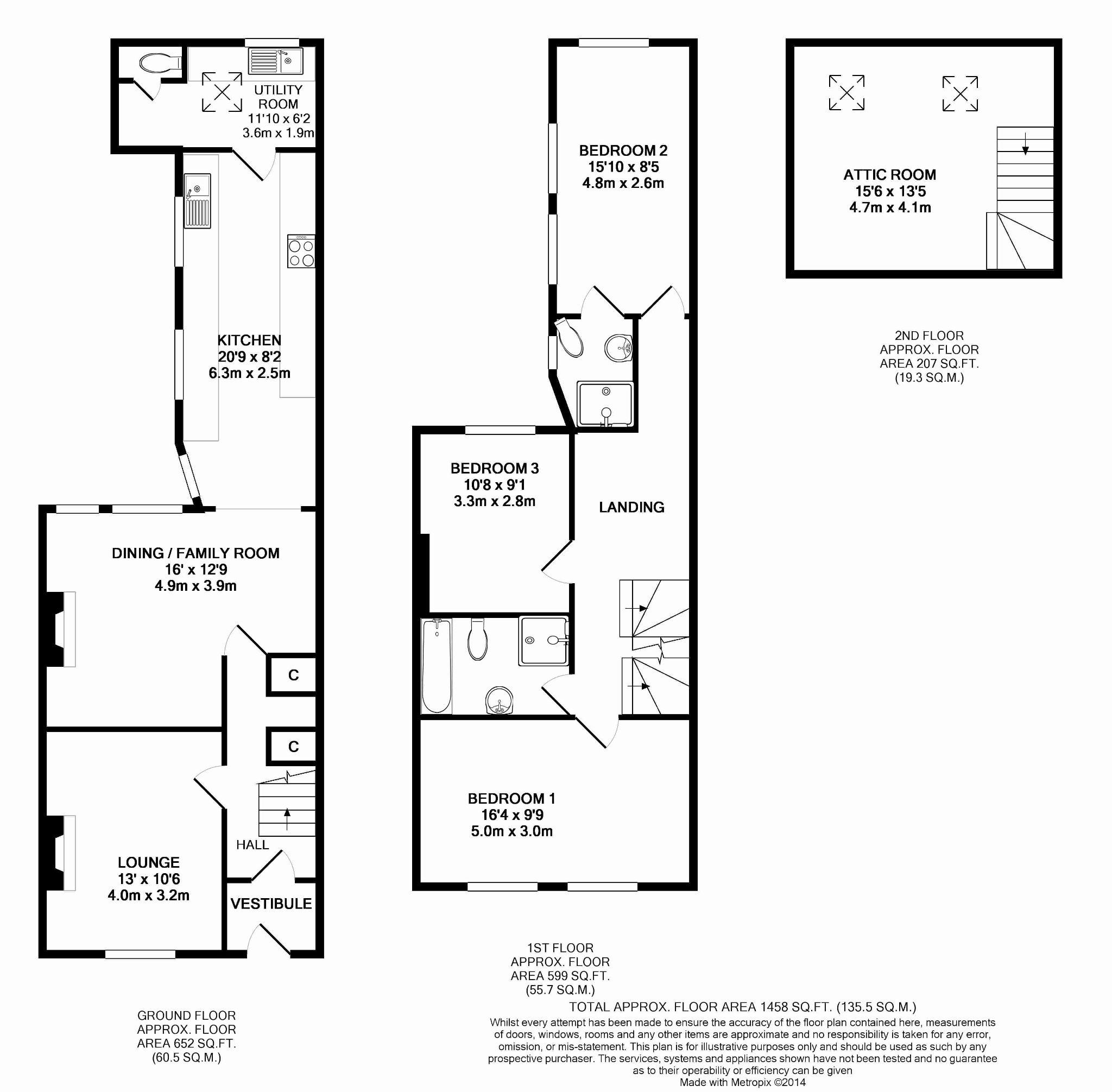 3 bedroom mid terraced house For Sale in Douglas - Floorplan 1