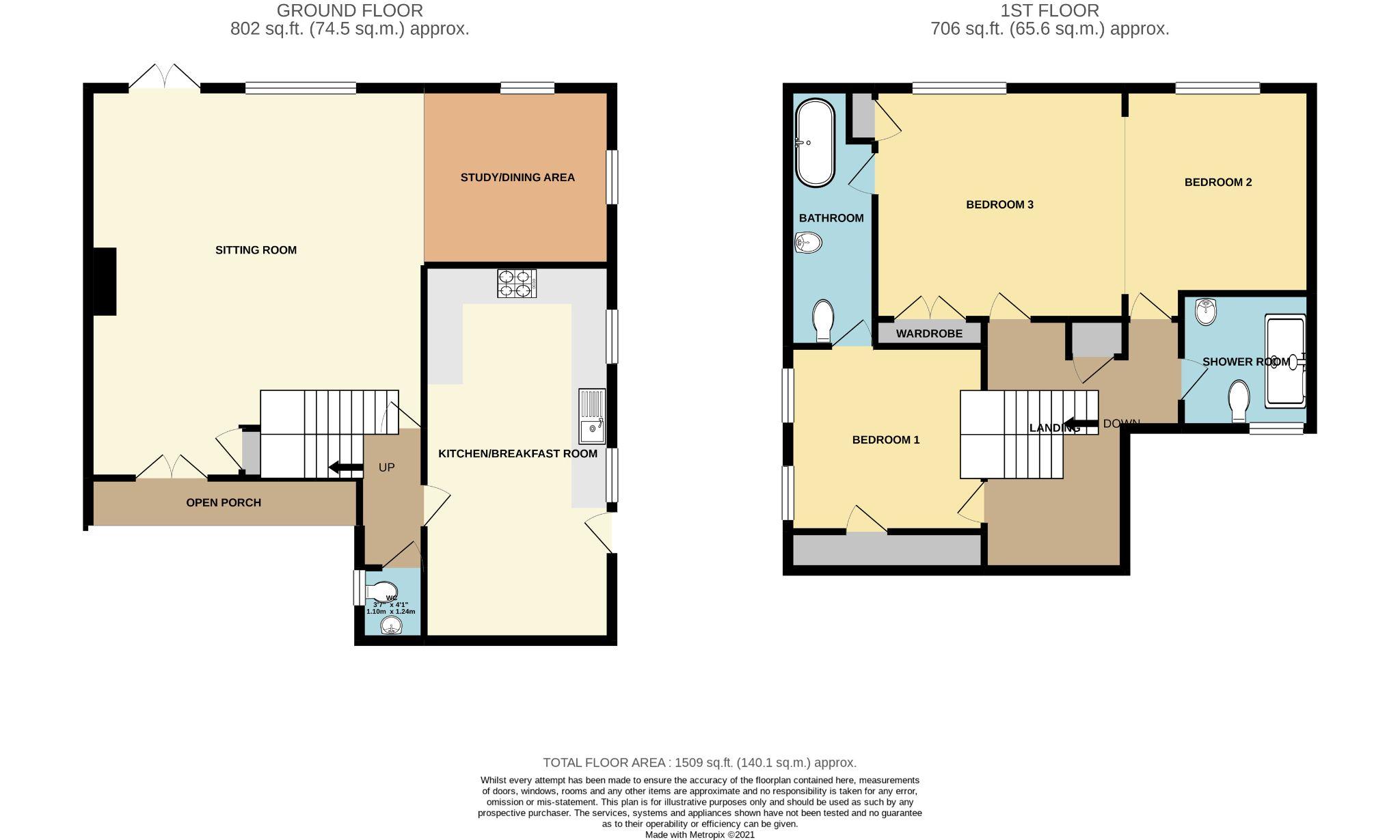 3 bedroom link detached house SSTC in Castletown - Floorplan 1
