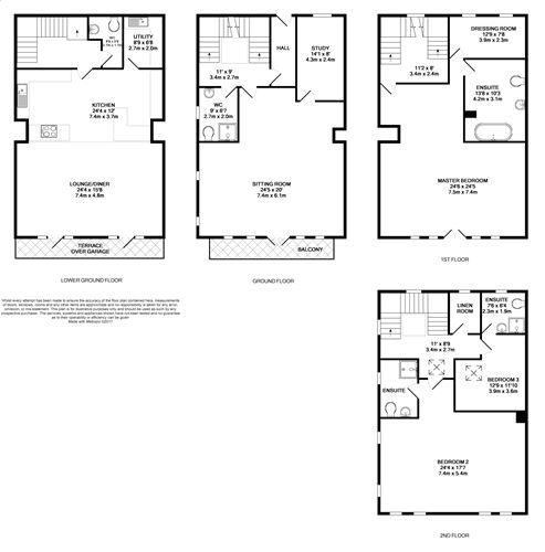 5 bedroom end terraced house For Sale in Port St Mary - Floorplan 1