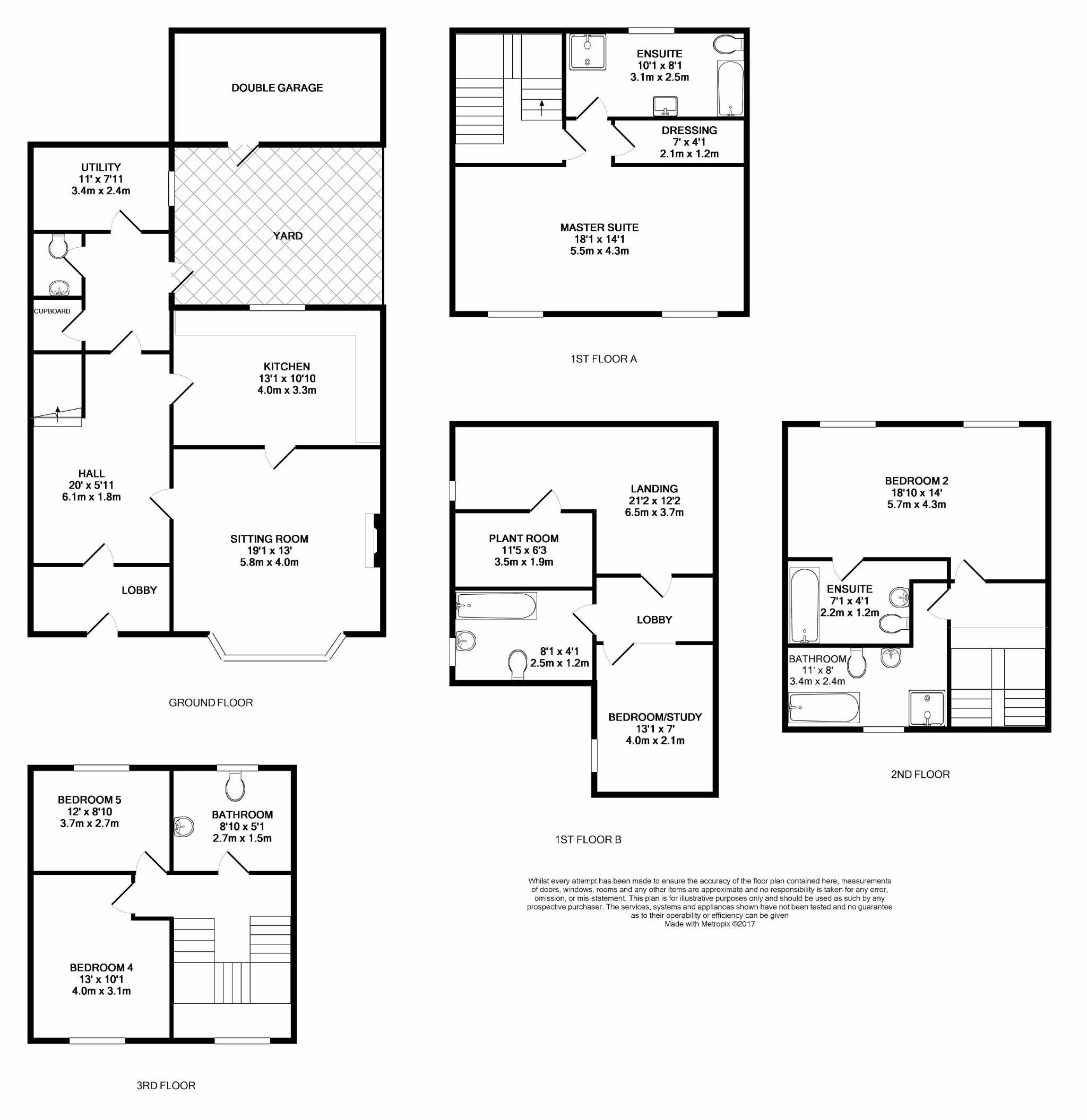 5 bedroom town house For Sale in Douglas - Floorplan 1