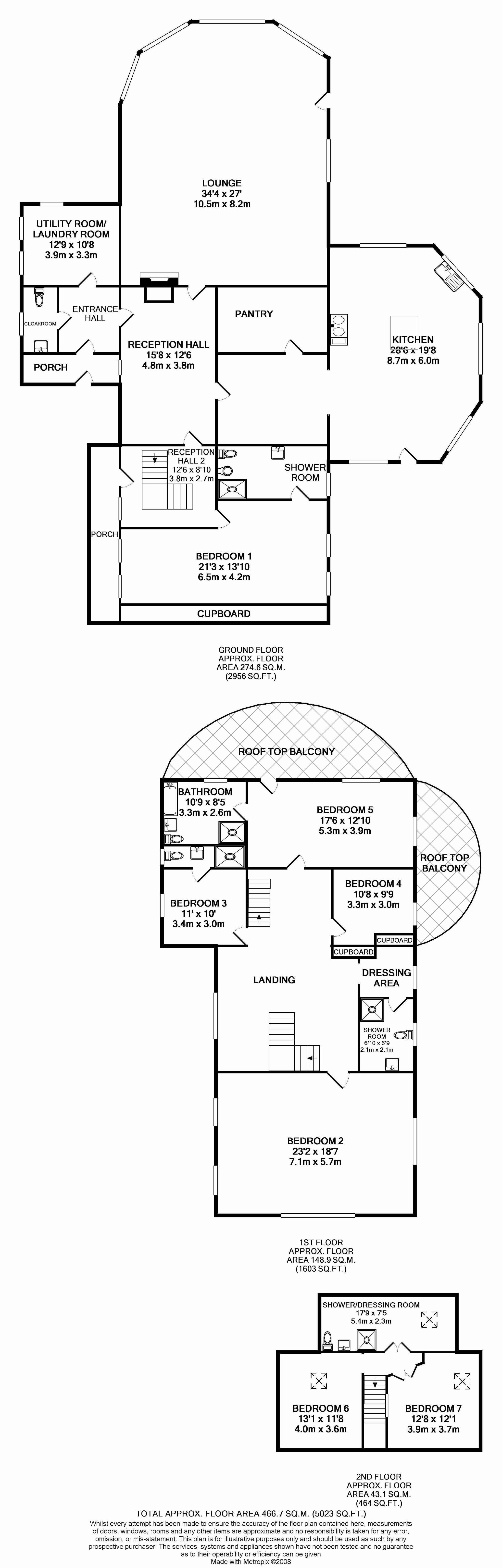 7 bedroom detached house For Sale in Douglas - Floorplan 1