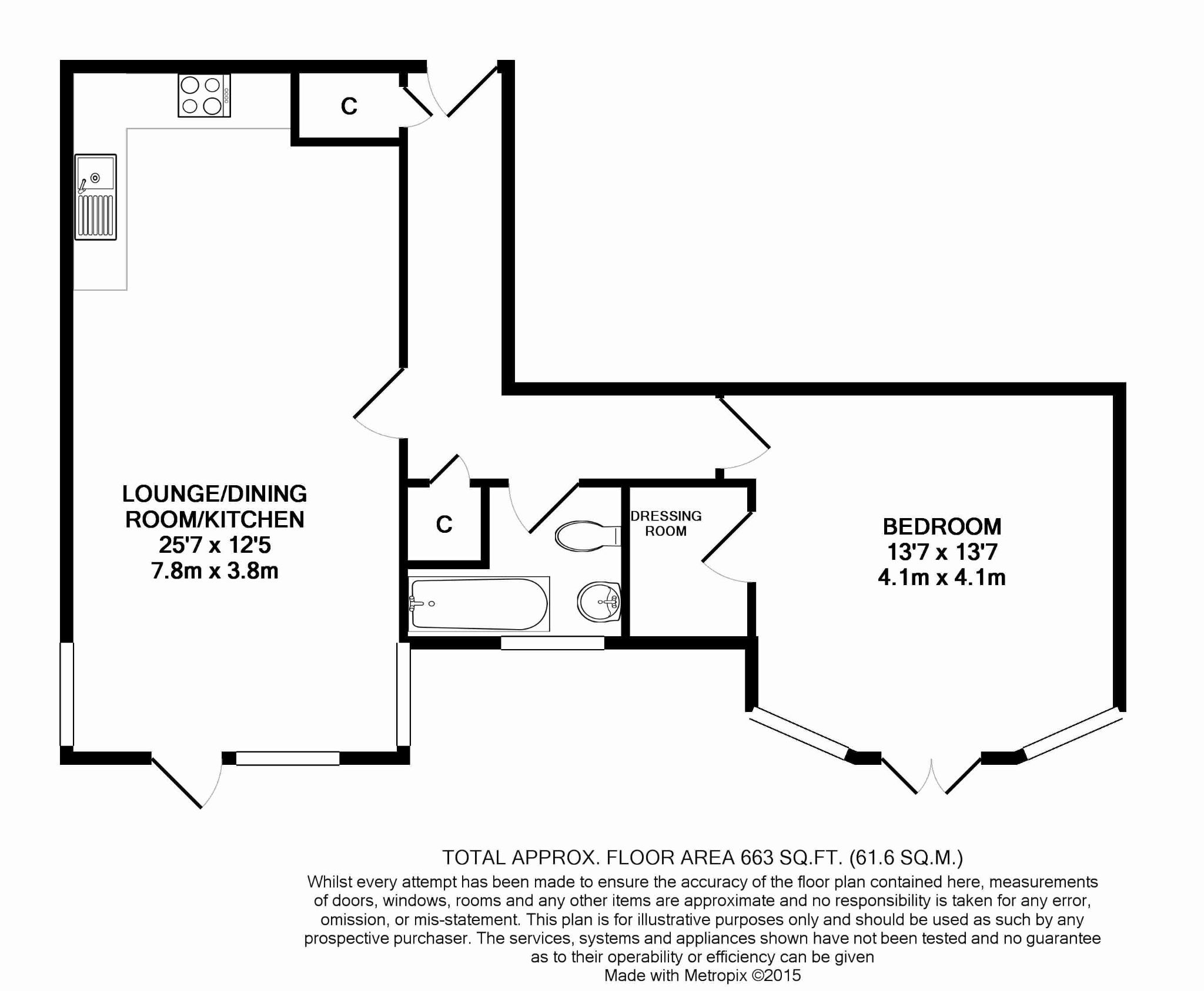 1 bedroom apartment flat/apartment For Sale in Douglas - Floorplan 1