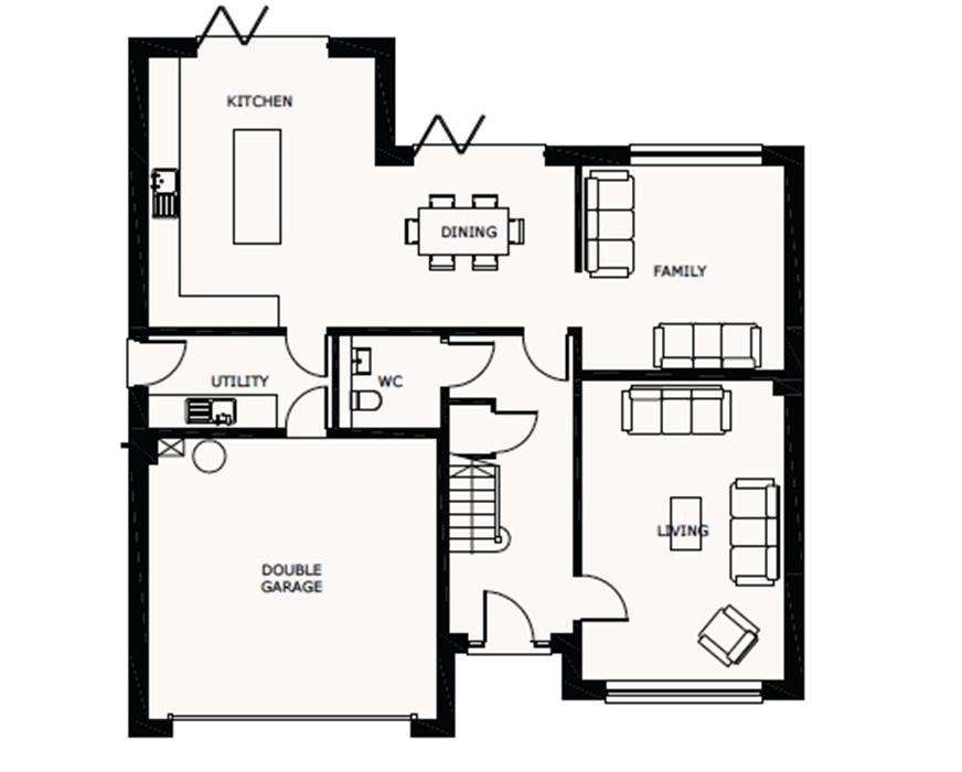 5 bedroom detached house For Sale in Ramsey - Ground Floor