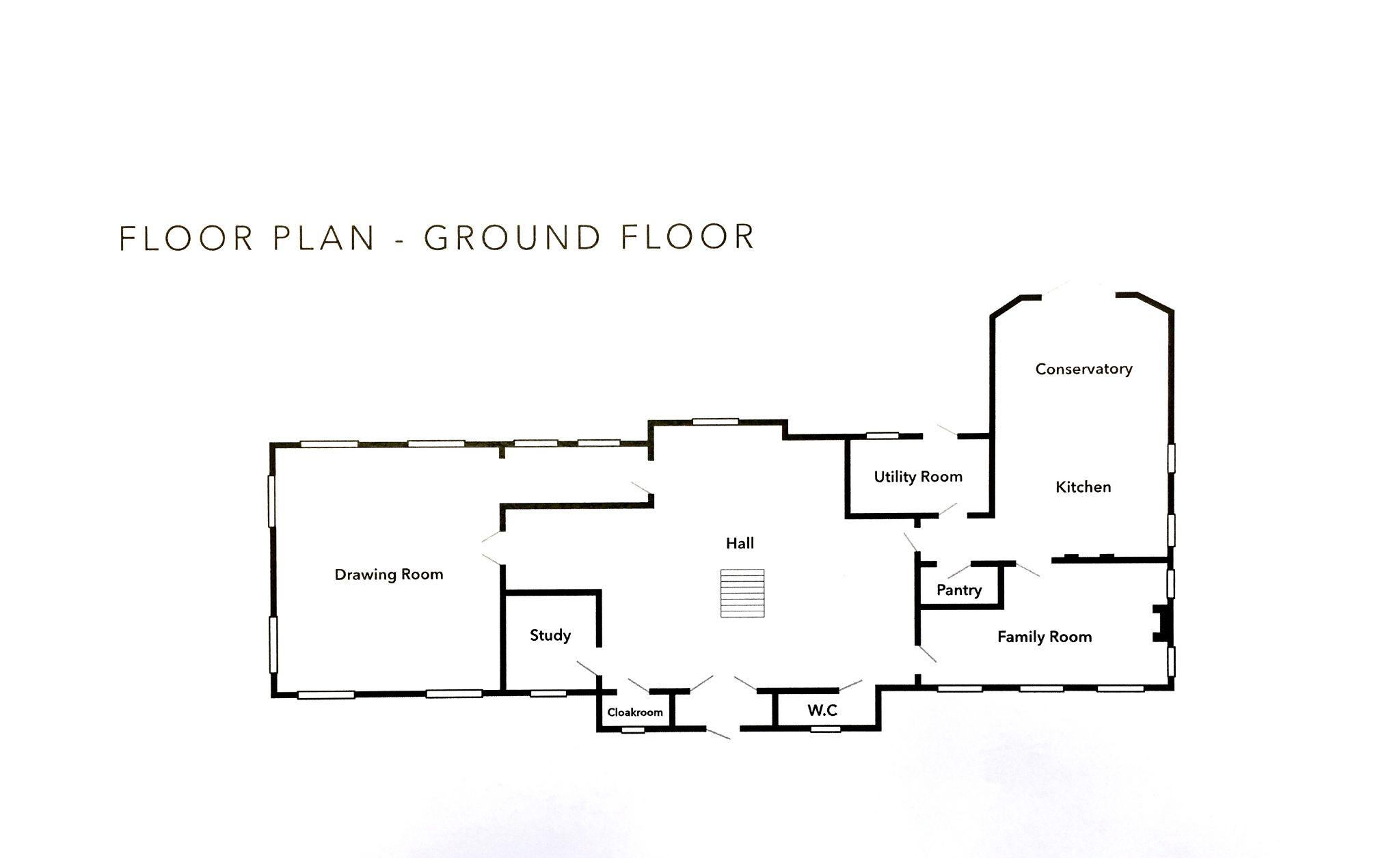 5 bedroom detached house For Sale in Onchan - Floorplan 1