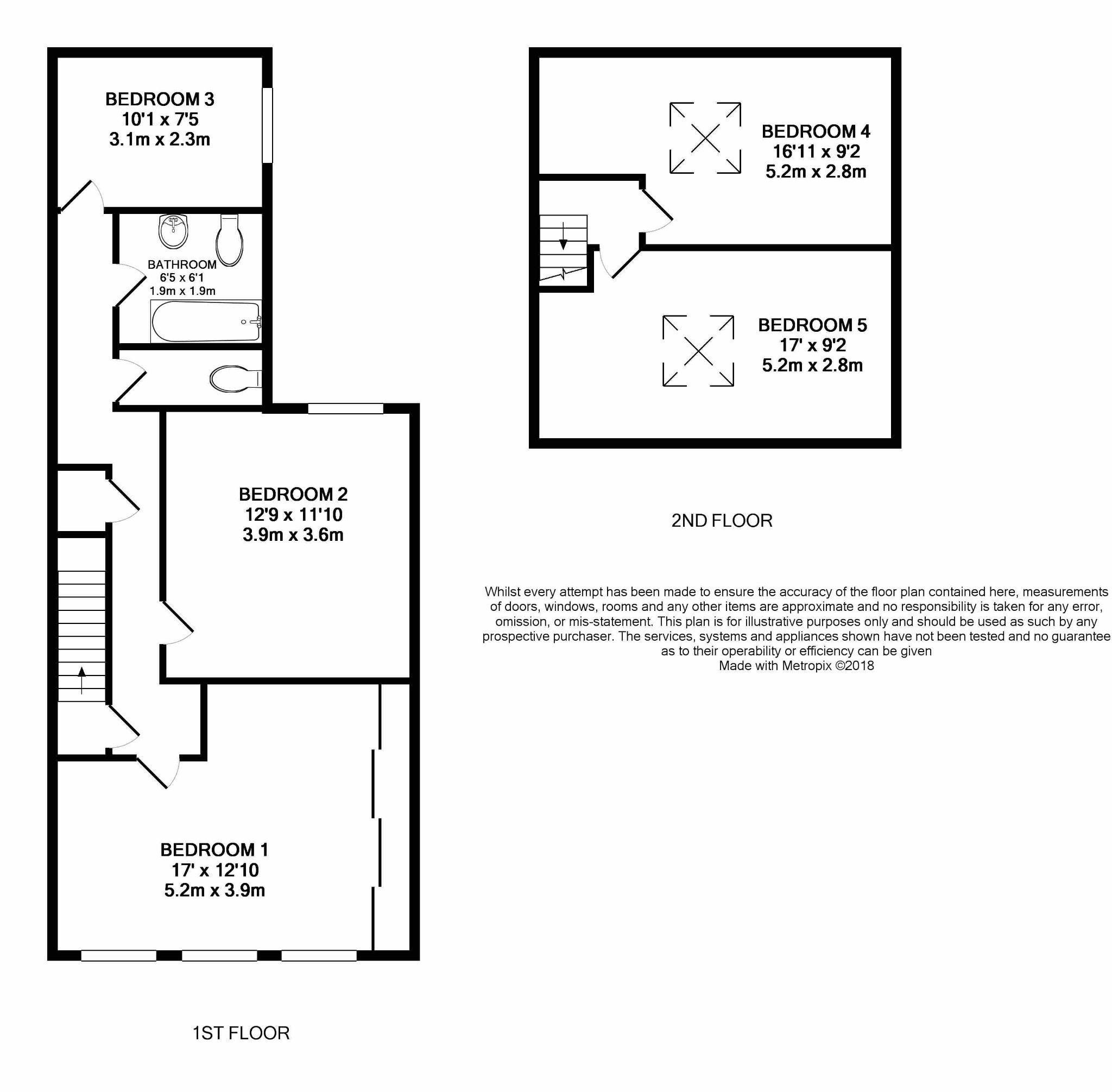 5 bedroom town house For Sale in Douglas - Floorplan 2