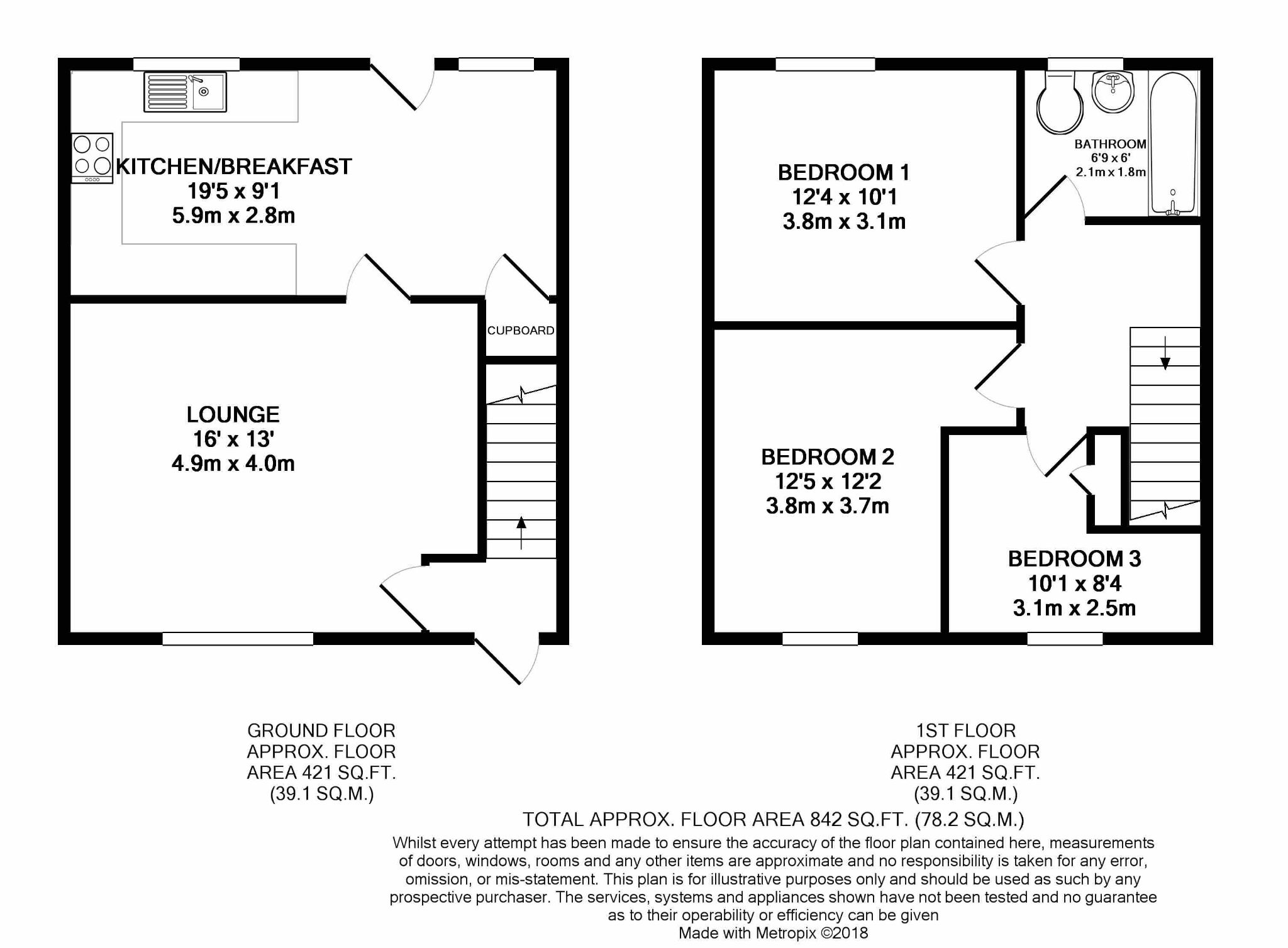3 bedroom semi-detached house For Sale in Douglas - Floorplan 1