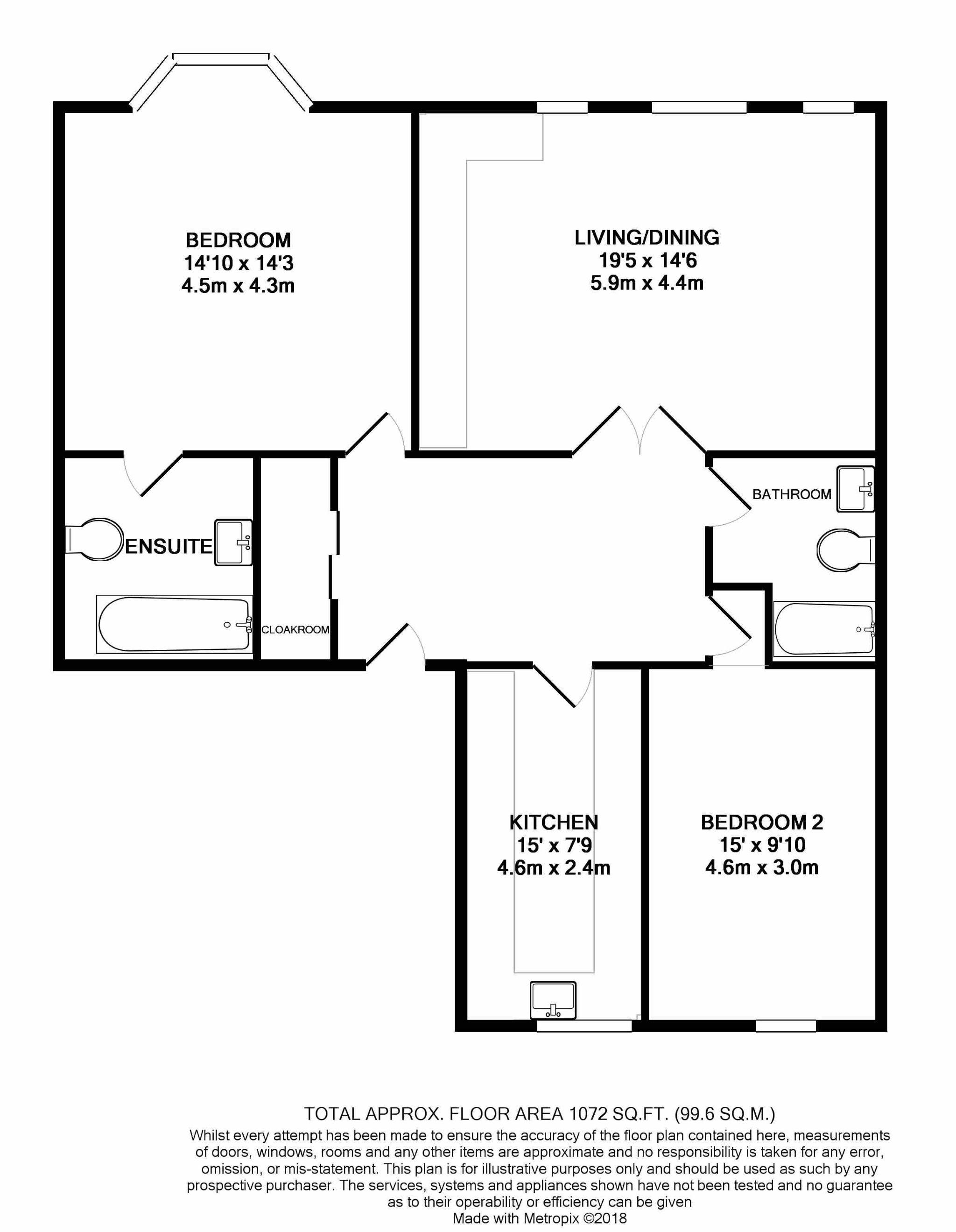 2 bedroom apartment flat/apartment For Sale in Douglas - Floorplan 1