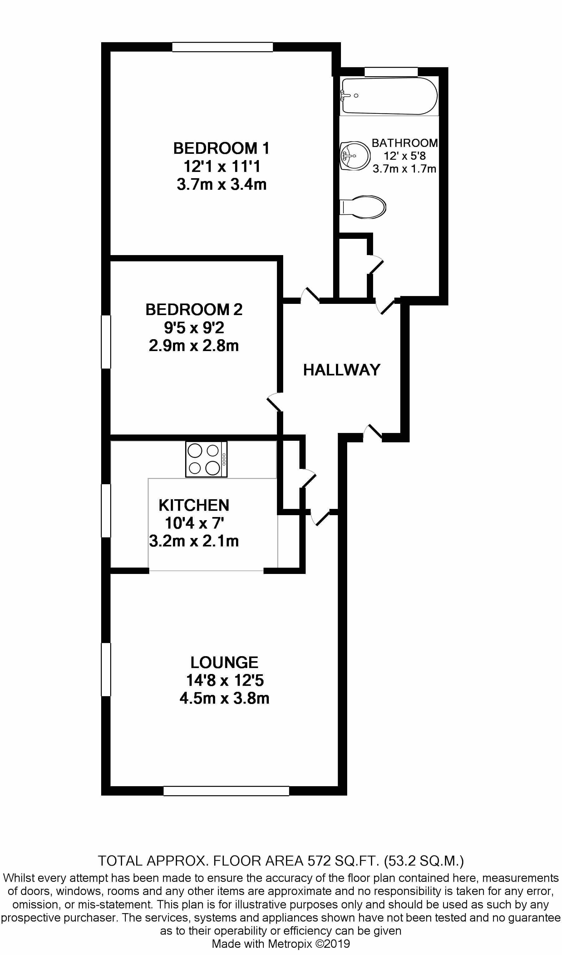 2 bedroom apartment flat/apartment Under Offer in Crosby - Floorplan 1