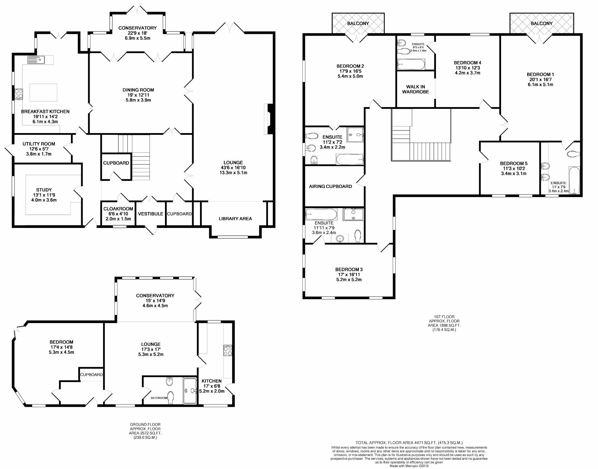 6 bedroom detached house For Sale in Peel - Floorplan 1