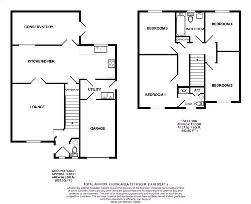 4 bedroom detached house Under Offer in Port Erin - Floorplan 1