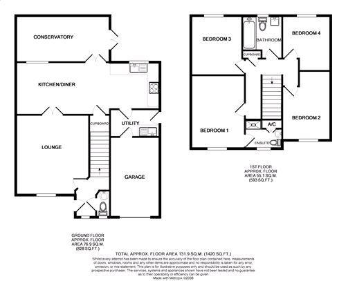 4 bedroom detached house SSTC in Port Erin - Floorplan 1