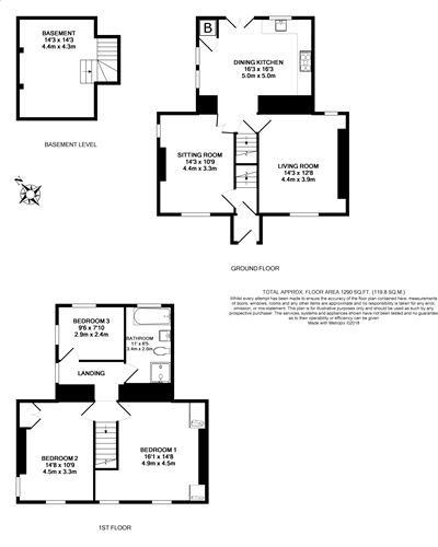 3 bedroom detached house For Sale in Colby - Floorplan 1