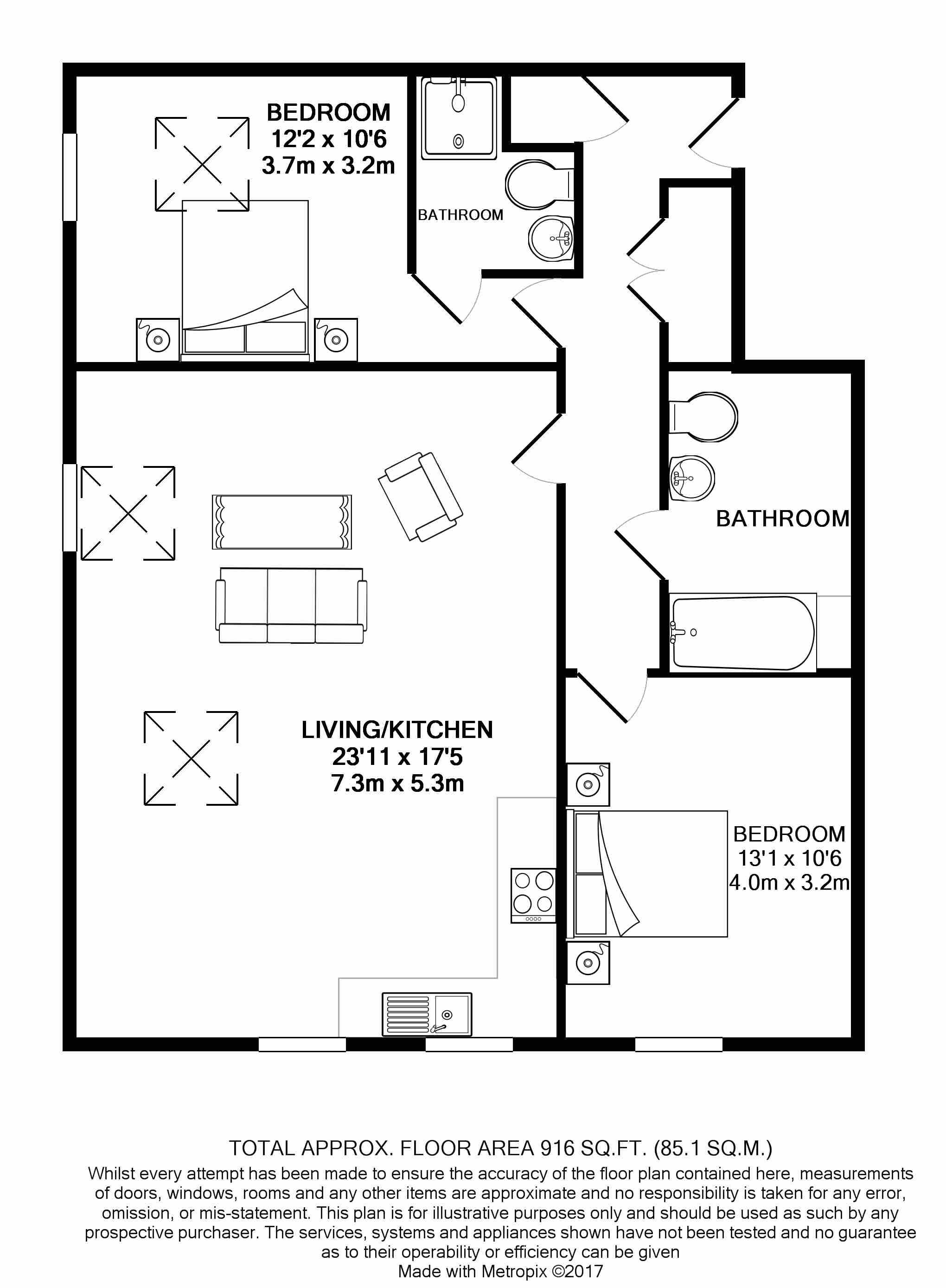 2 bedroom apartment flat/apartment For Sale in Ramsey - Floorplan 4