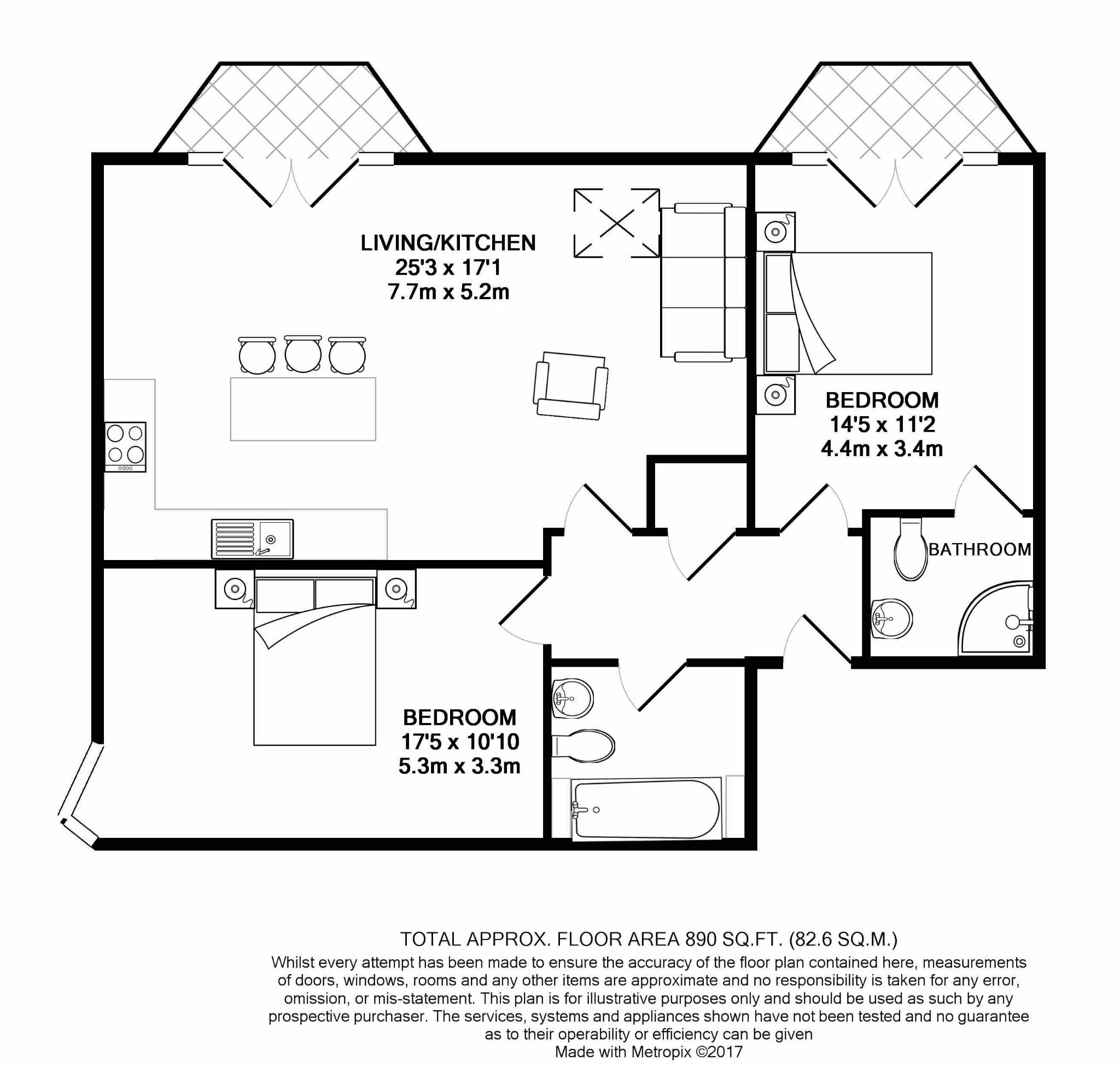2 bedroom apartment flat/apartment For Sale in Ramsey - Floorplan 5
