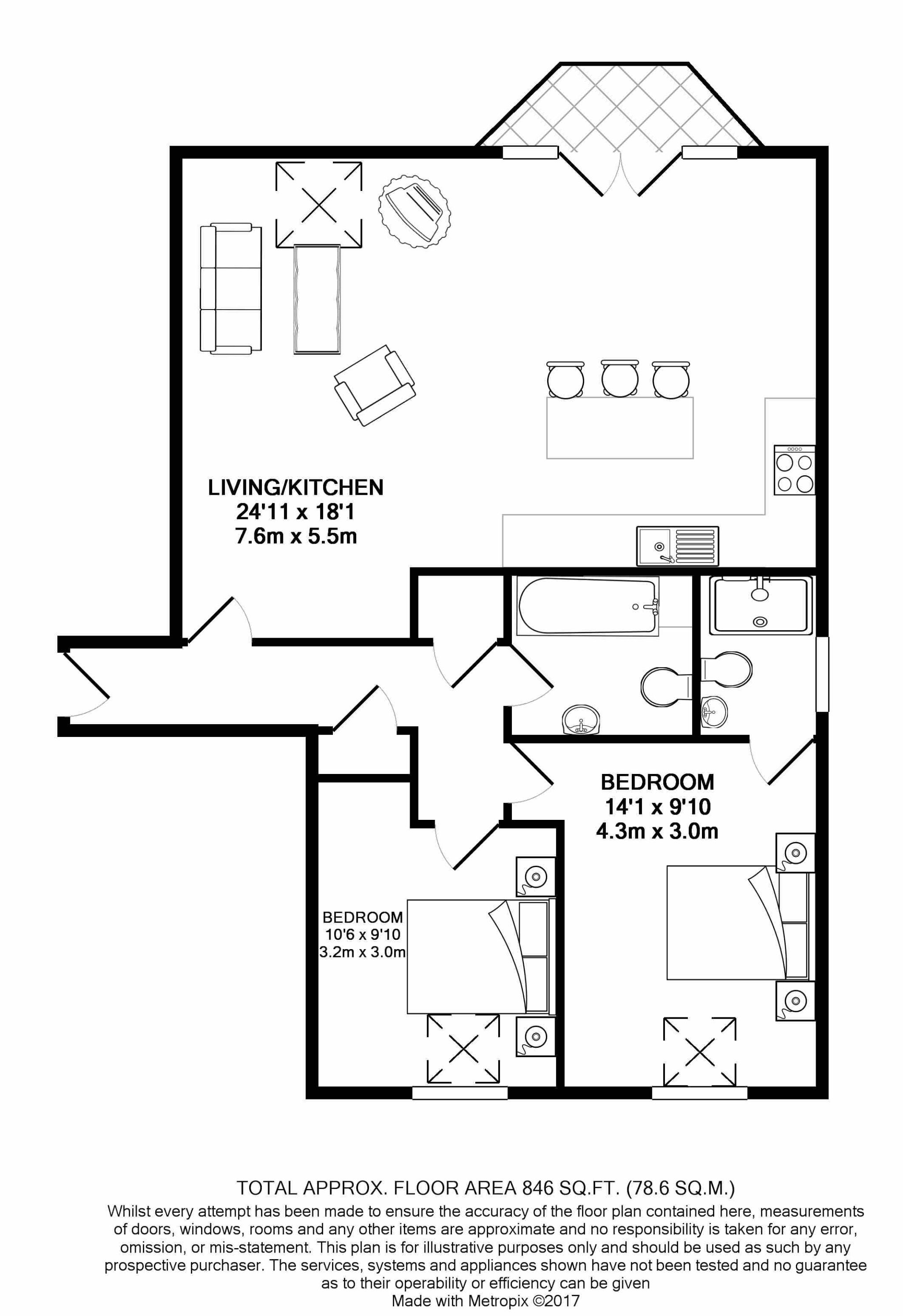 2 bedroom apartment flat/apartment For Sale in Ramsey - Floorplan 6