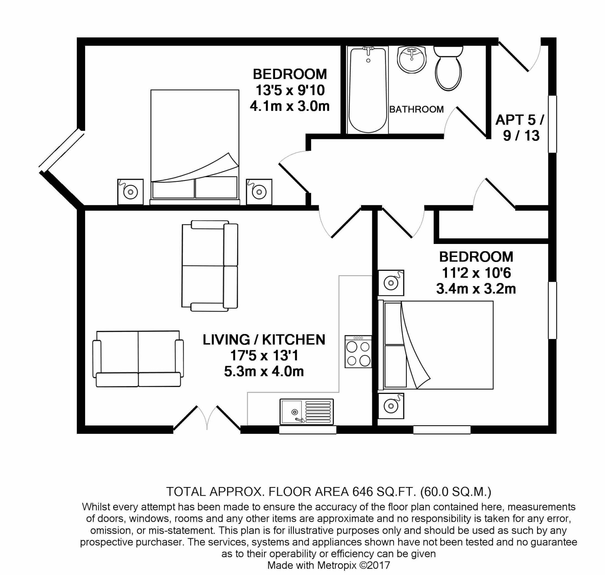 2 bedroom apartment flat/apartment For Sale in Ramsey - Floorplan 7