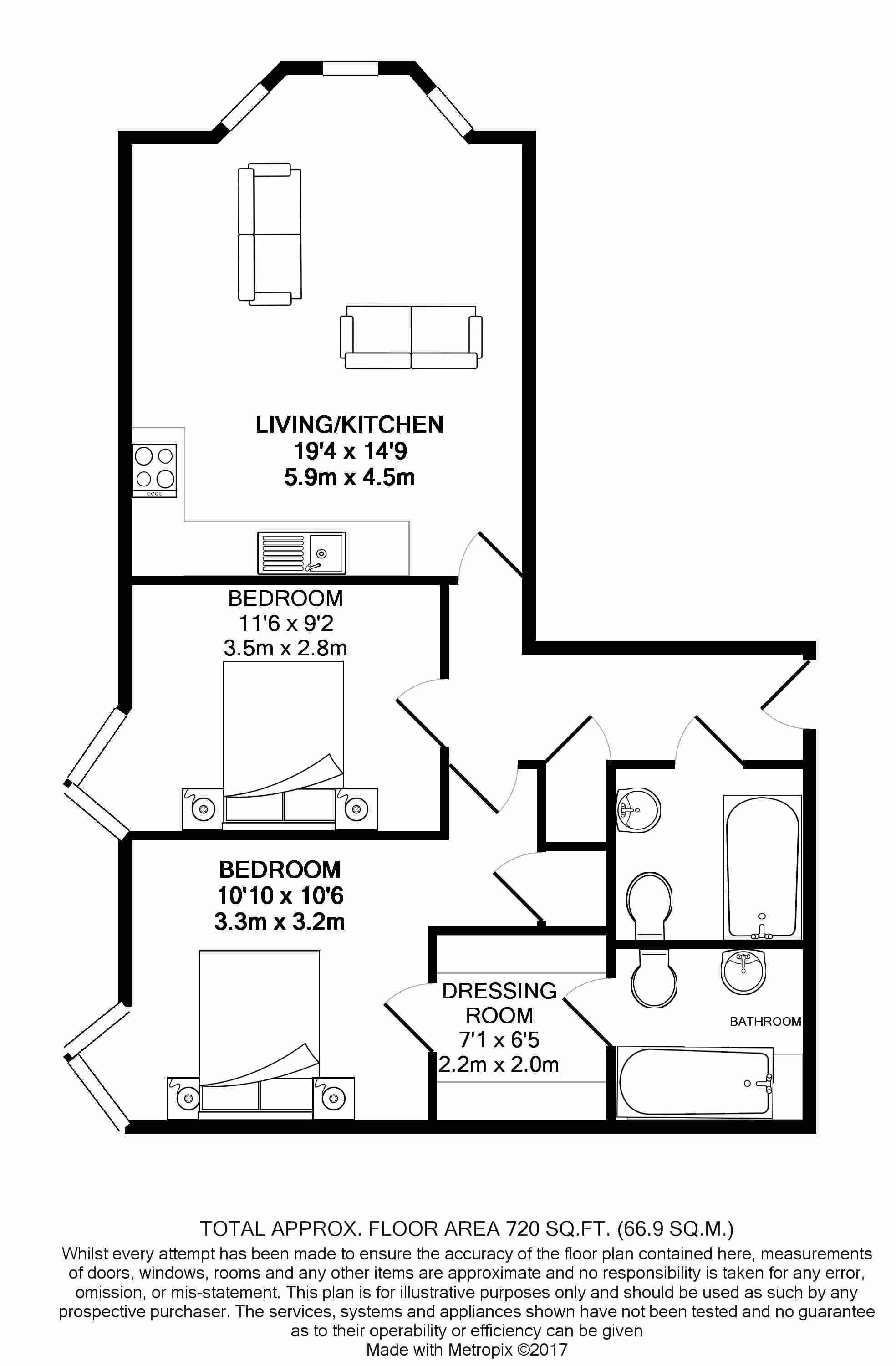 2 bedroom apartment flat/apartment For Sale in Ramsey - Floorplan 8