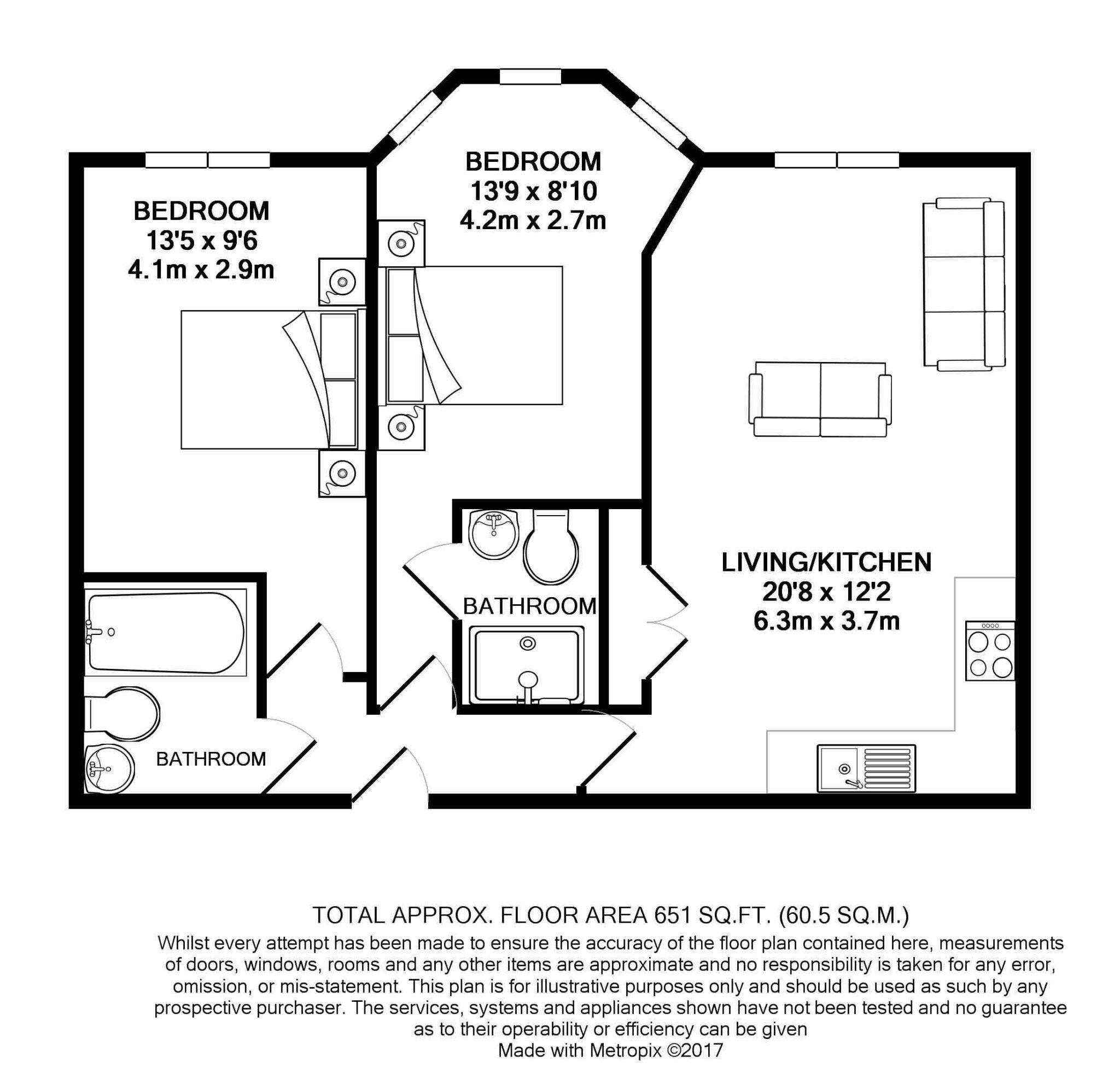 2 bedroom apartment flat/apartment For Sale in Ramsey - Floorplan 9