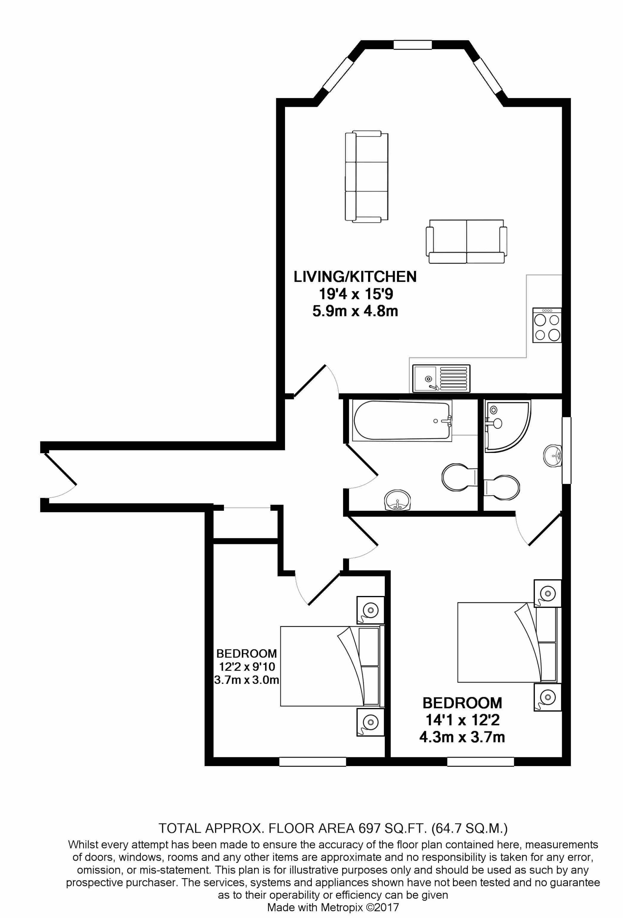 2 bedroom apartment flat/apartment For Sale in Ramsey - Floorplan 10