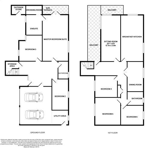 6 bedroom detached house SSTC in Port St. Mary - Floorplan 1