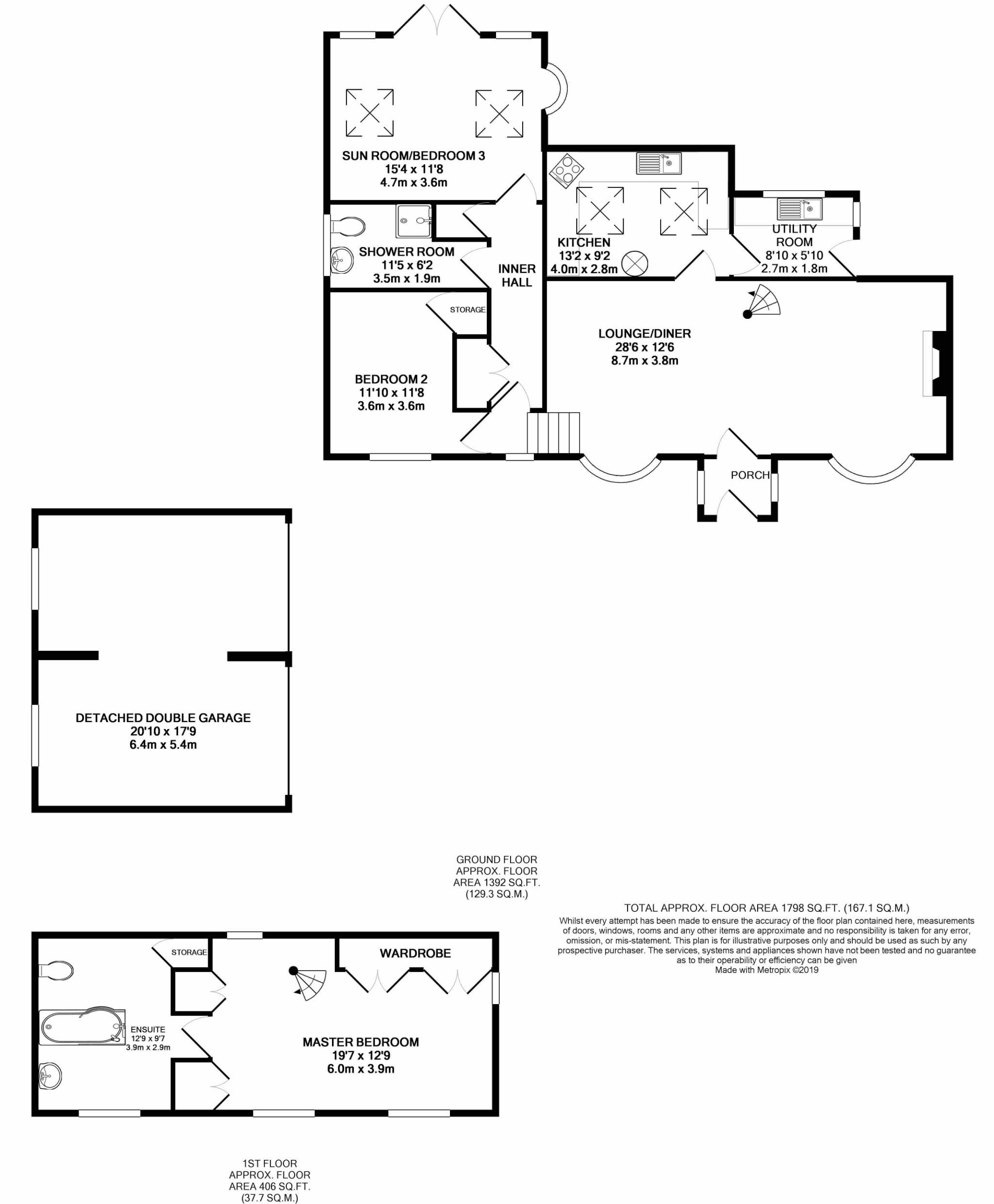 3 bedroom cottage house For Sale in West Baldwin - Floorplan 1