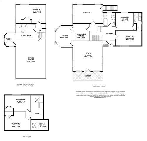 5 bedroom detached house For Sale in Ballasalla - Floorplan 1