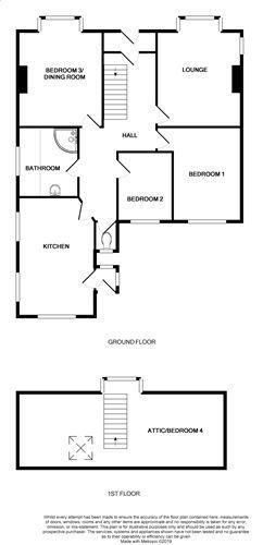 3 bedroom detached bungalow For Sale in Port St. Mary - Floorplan 1