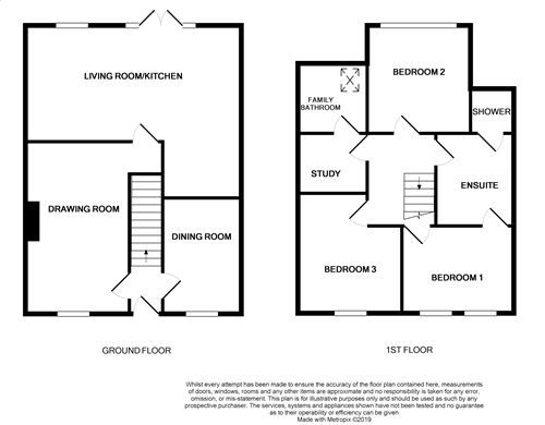 3 bedroom mid terraced house For Sale in Castletown - Floorplan 1